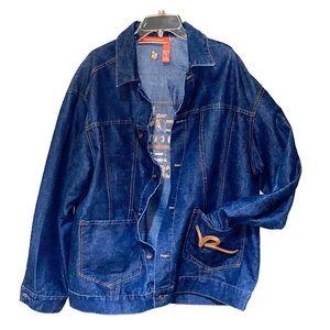 Mens Vintage Dark Blue Jean Roca Wear Jacket
